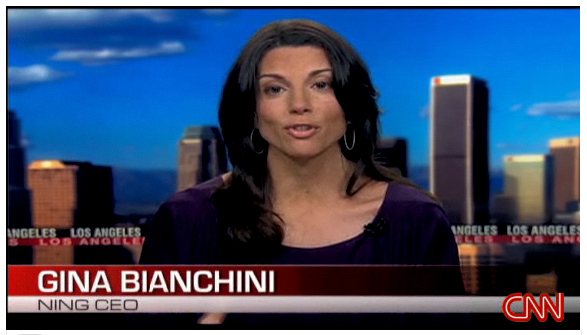 Ning CEO Gina Bianchini explains how NING fits into the social media environment. CNN TV. 6min