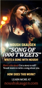 Noush wants you to help her write her next song. She explains all on this video