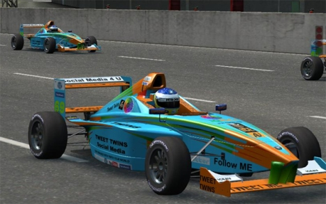 Tweet Twins Formula BMW FB02 Team Race Car